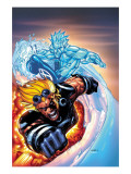 X-Men 201 Cover: Iceman and Cannonball Prints by Humberto Ramos