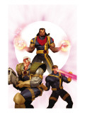 X-Men: The Times and Life of Lucas Bishop 3 Cover: Cable, Cyclops and Bishop Print by Ariel Olivetti