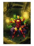 Marvel Adventures Super Heroes 4 Cover: Iron Man, Hulk and Spider-Man Poster by Roger Cruz