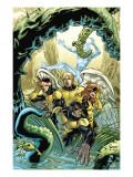 X-Men: First Class Giant-Size Special 1 Cover: Beast, Cyclops, Marvel Girl, Angel and Iceman Prints by Parker Jeff