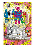 Infinity Gauntlet No.5 Group: Galactus, The Stranger, Kronos, Lord Chaos and Master Order Posters by George Perez