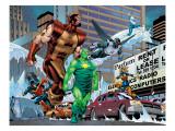 New Thunderbolts No.10 Group: Radioactive Man Print by Tom Grummett