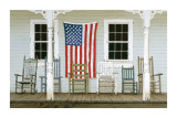 Chair Family with Flags Giclee Print by Zhen-Huan Lu