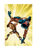 New Thunderbolts No.8 Cover: Shocker and Speed Demon Fighting Prints by Tom Grummett