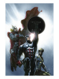 Secret Invasion 8 Cover: Captain America, Wolverine and Thor Posters by Gabriele DellOtto