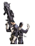 Punisher Vs. Bullseye #1 Cover: Punisher and Bullseye Lminas por Mike Deodato Jr.