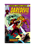 Daredevil No.162 Cover: Daredevil Fighting Poster von Ditko Steve