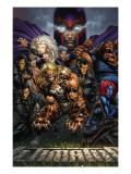 Ultimatum 3 Cover: Magneto, Sabretooth, Madrox, Mystique, Blob, Quicksilver and Lorelei Print by David Finch