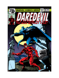 Daredevil No.158 Cover: Daredevil and Death-Stalker Schilderij van Frank Miller