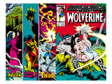 Marvel Comics Presents 4 Cover: Wolverine, Razorfist, Marvel Babies and Spider-Man Fighting Affiches par John Buscema