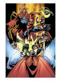 Marvel Team-Up No.12 Group: Titannus, She-Hulk, Spider-Man, Dr. Strange, Warbird, Nova & Wolverine Prints by Paco Medina