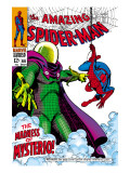 The Amazing Spider-Man No.66 Cover: Mysterio and Spider-Man Fighting Prints by John Romita Sr.