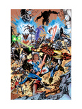 Avengers 99 Annual Cover: Captain America, Thor, Iron Man, Wonder Man and Avengers Posters by Manco Leonardo