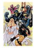 Secret Invasion: X-Men No.1 Cover: X-23 and Emma Frost Prints by Terry Dodson