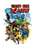 Giant-Size X-Men 3 Cover: Wolverine, Cyclops, Nightcrawler and Sunfire Charging Prints by Dave Cockrum