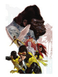X-Men: First Class No.8 Cover: Cyclops, Marvel Girl, Angel and Gorilla Man Poster