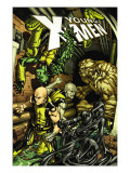 Young X-Men No.8 Cover: Rockslide, Anole, Dust, Graymalkin and Ink Posters by Michael Ryan