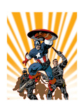 Marvel Knights Captain America 24 Cover: Captain America and Nick Fury Prints by Dave Johnson