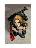 Daredevil 61 Cover: Black Widow Prints by Alex Maleev