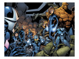 Marvel Team-Up No.18 Group: Mutant 2099, Thing, Dagger, Speedball, X-23 and Gravity Prints by Paco Medina