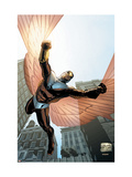 Captain America And The Falcon No.7 Cover: Falcon Prints by Joe Bennett