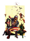 Marvel Zombies 2 Cover: Captain America, Iron Man, Wasp and Thor Photo