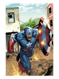 Marvel Adventures Super Heroes No.8 Cover: Captain America Arte por Clayton Henry
