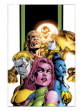 Exiles 62 Group: Holocaust, Blink, Sabretooth, Namora, Morph and Mimic Posters by Mizuki Sakakibara