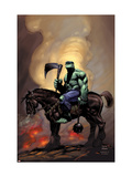 Incredible Hulk 81 Cover: Hulk Riding Prints by Lee Weeks