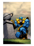 Thanos 7 Cover: Thanos Posters par Jim Starlin