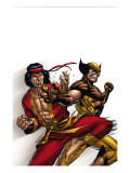 Wolverine: First Class No.9 Cover: Wolverine and Shang-Chi Print by Salva Espin