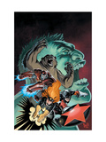 Hulk: Winter Guard 1 Cover: Darkstar, Crimson Dynamo, Ursa Major, Red Guardian and Hulk Posters by Steve Ellis
