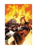 Invincible Iron Man No.6 Cover: Iron Man, Stane and Ezekiel Prints by Salvador Larroca