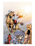 Alpha Flight 5 Cover: Major Mapleleaf and Alpha Flight Posters by Henry Clayton
