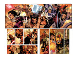 Secret Invasion No.7 Group: Wolverine, Captain America, Mr. Fantastic and Hawkeye Prints by Leinil Francis Yu