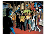 Handbook: X-Men 2005 Group: Nightcrawler, Wolverine, Beast, Emma Frost, Colossus and Storm Posters by Robertson Darick