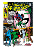 Amazing Spider-Man No.91 Cover: Spider-Man Fighting Prints by Gil Kane