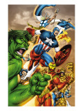 Onslaught Reborn No.5 Cover: Captain America, Hulk and Iron Man Posters by Liefeld Rob