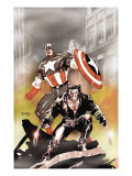 Wolverine Captain America 1 Cover: Wolverine and Captain America Prints by Tom Derenick