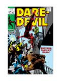 Daredevil No.47 Cover: Daredevil Swinging Kunstdrucke von Gene Colan