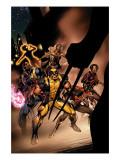 Uncanny X-Men No.450 Cover: Wolverine, Bishop, Nightcrawler, Storm and X-Men Fighting Art by Alan Davis