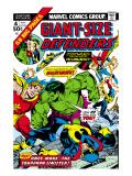 Giant-Size Defenders No.4 Cover: Hulk, Dr. Strange, Hyperion, Dr. Spectrum and Nighthawk Fighting Kunstdrucke von Don Heck