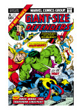 Giant-Size Defenders 4 Cover: Hulk, Dr. Strange, Hyperion, Dr. Spectrum and Nighthawk Fighting Prints by Don Heck