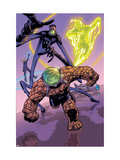 Marvel Adventures Fantastic Four No.30 Group: Thing, Mr. Fantastic and Human Torch Prints by Steve Scott