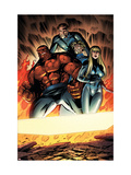 Fantastic Four 552 Group: Thing, Mr. Fantastic, Invisible Woman and Human Torch Posters by Pelletier Paul