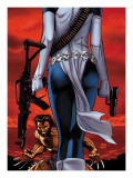 Wolverine 64 Cover: Wolverine and Mystique Prints by Ron Garney