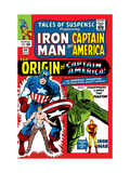 Tales Of Suspense 63 Cover: Iron Man, The Phantom, Captain America, Rogers and Steve Prints by Don Heck