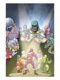 Doctor Doom And The Masters Of Evil 2 Cover: Dr. Doom, Princess Python, Clown and Baron Zemo Prints by Karl Kerschl