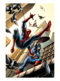 Spectacular Spider-Man 16 Cover: Spider-Man and Captain America Fighting Prints by Michael Ryan