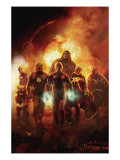 Annihilation: Conquest 6 Cover: Adam Warlock, Quasar, Star-Lord and Ronan The Accuser Prints